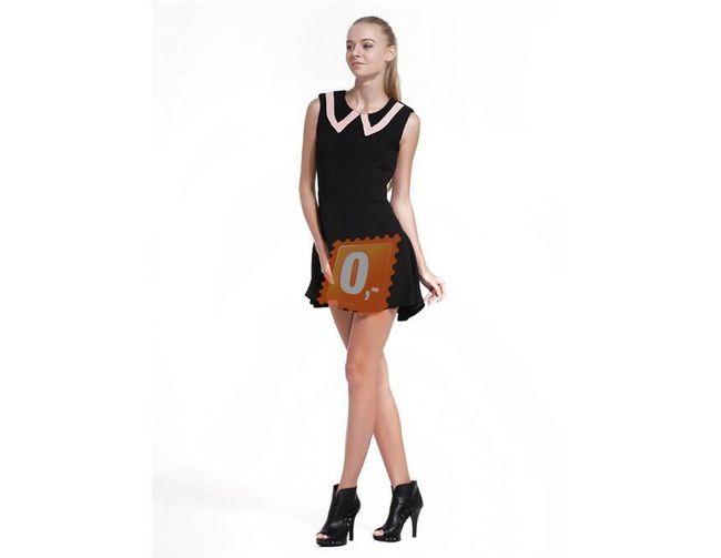 Dámské krátké černé šaty bez rukávů - vel. S 1