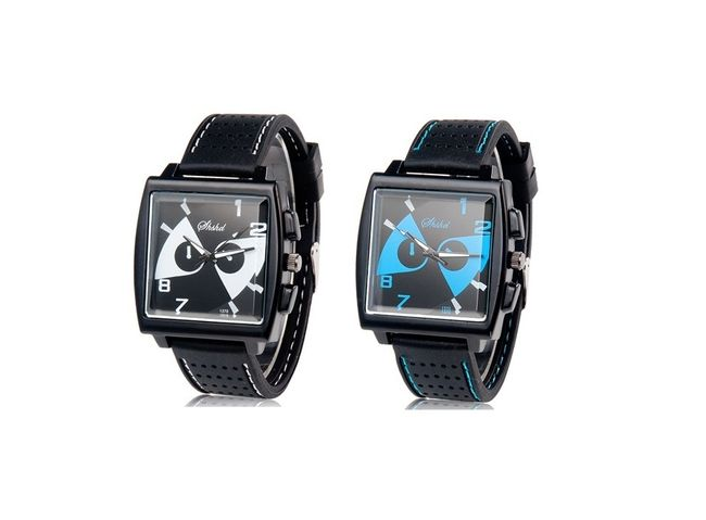 Pánské hodinky s očima ve dvou atraktivních barvách 1