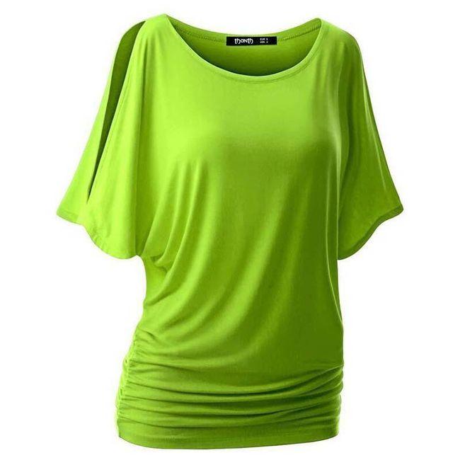 Dámské triko s otvory na ramenou v mnoha barvách 1