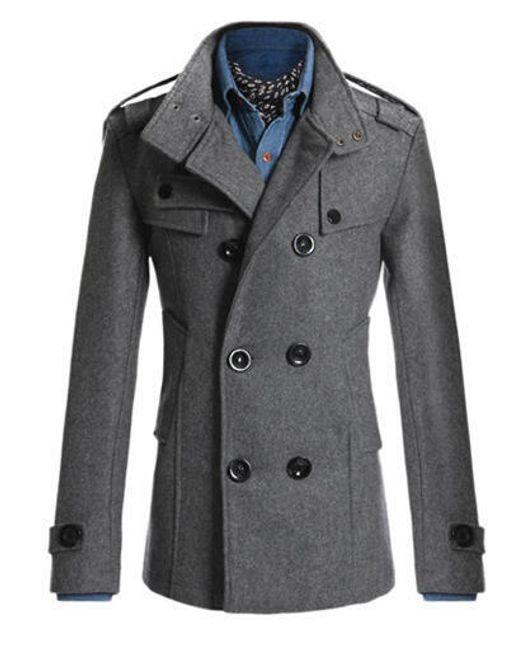Elegantní pánský kabát Tobias - Šedá-M/L 1