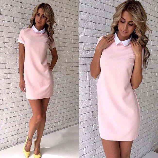 Elegantní dámské šaty s límečkem - 4-velikost č. 2 1