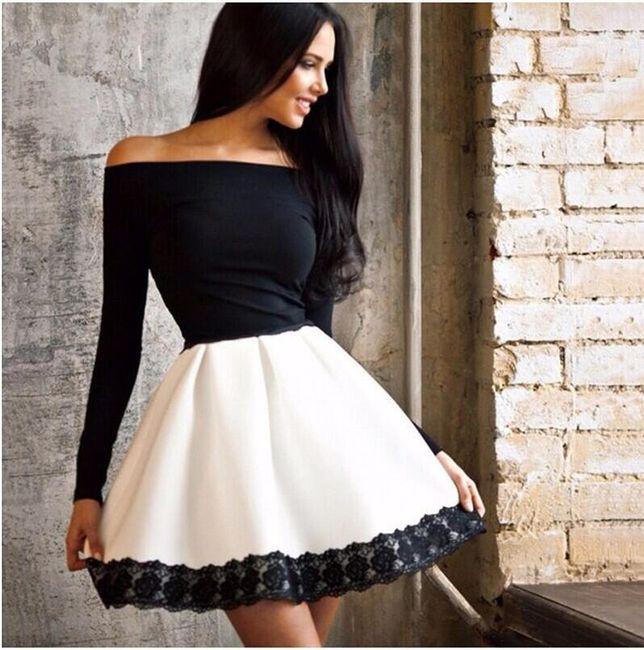 Dámské šaty s rukávem a širokou sukní 1