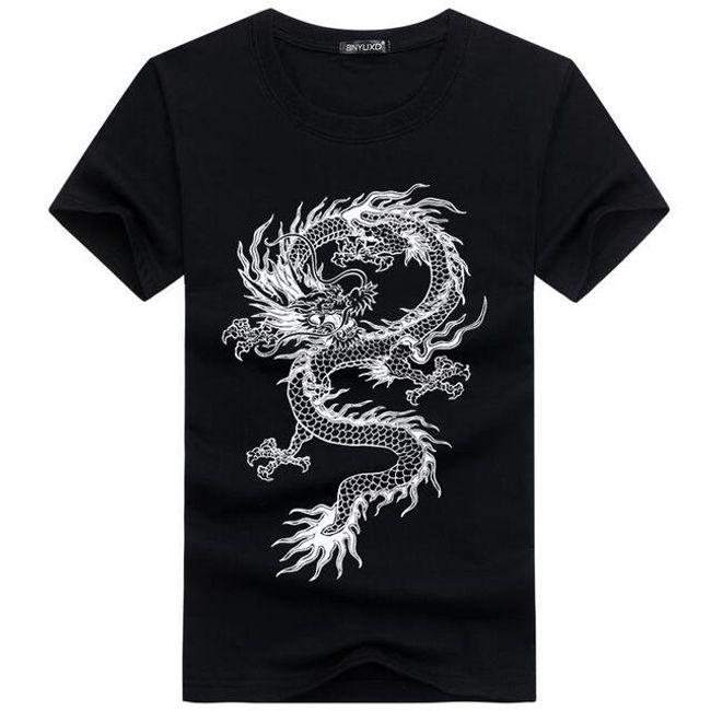 Kínai sárkányos férfi pólók - 4 szín