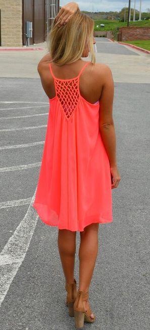 Dámské šaty plážové v pestrých barvách - oranžové, vel. 6 1
