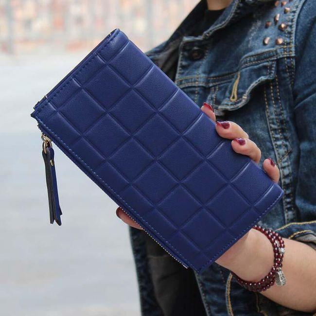 Ženska denarnica s kvadratnimi motivi 1