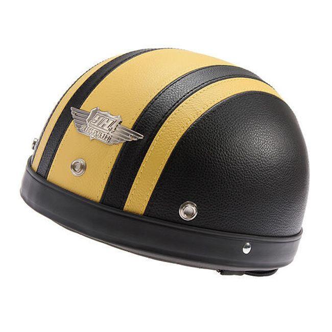 Helma na motorku černá - žlutá 1
