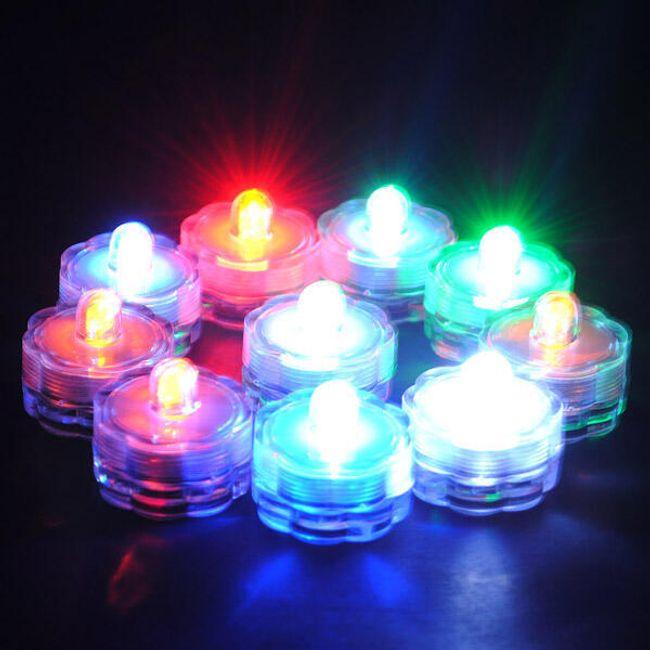 Świeca LED tealight - w 5 kolorach 1