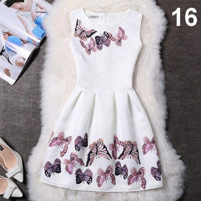 Elegantní šaty s originálními motivy - Varianta 16 - Velikost 1 1