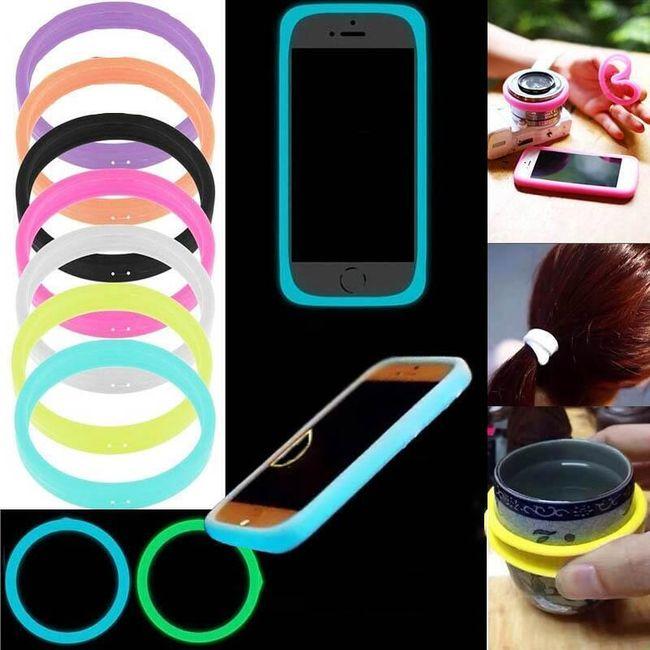 Светящийся силиконовый бампер для смартфона 1