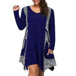 Женское платье с длинными рукавами Marwen Синий - Размер 9