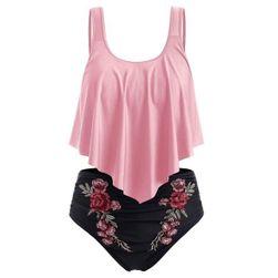 Dámské plus size plavky Camila - Růžová - velikost 4