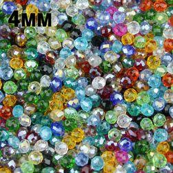 Krystalky s dírkou na výrobu náramku - 100 ks
