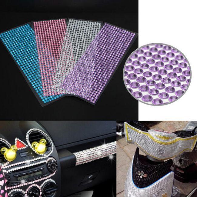 Okrasni lepljivi kamenčki za avtomobil - različne barve 1