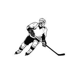 Стикер за автомобил - хокеист