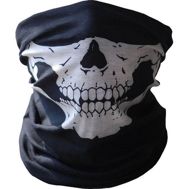 Ochranná maska na obličej s lebkou  1