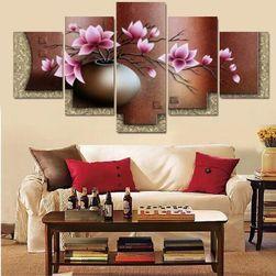 Sada obrazů s květinou - 5 kusů