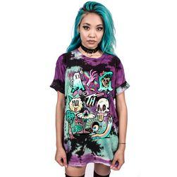 Punkové unisex barevné tričko - 7 variant