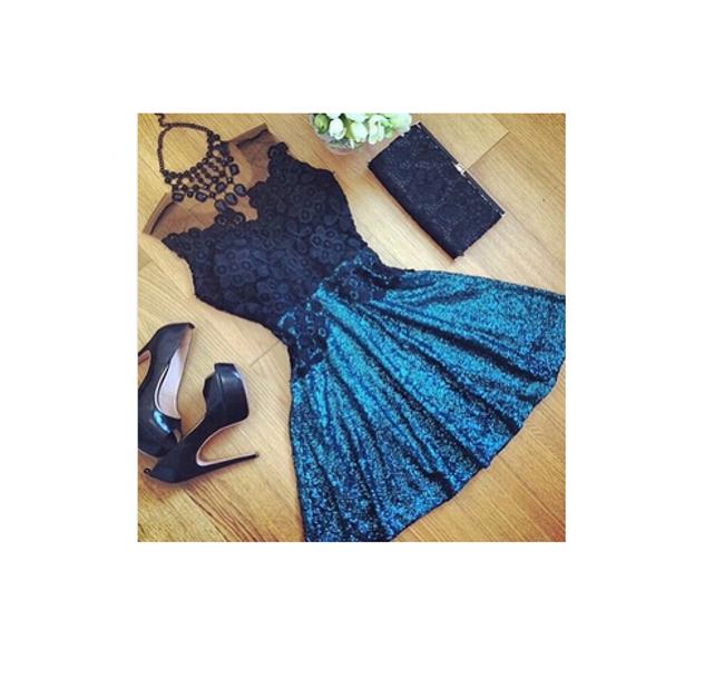 Синее платье 1
