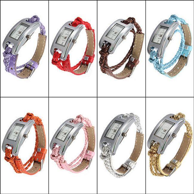 Módní dámské hodinky s provázkovým páskem v 8 barvách 1
