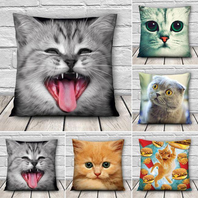 3D наволочка с милыми кошками 1
