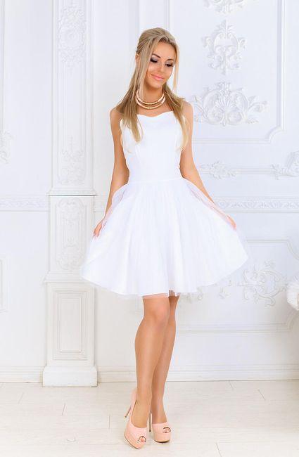 Dámské elegantní šatičky na léto - Bílá-XS 1