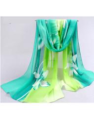 Елегантен дамски шал с цветя