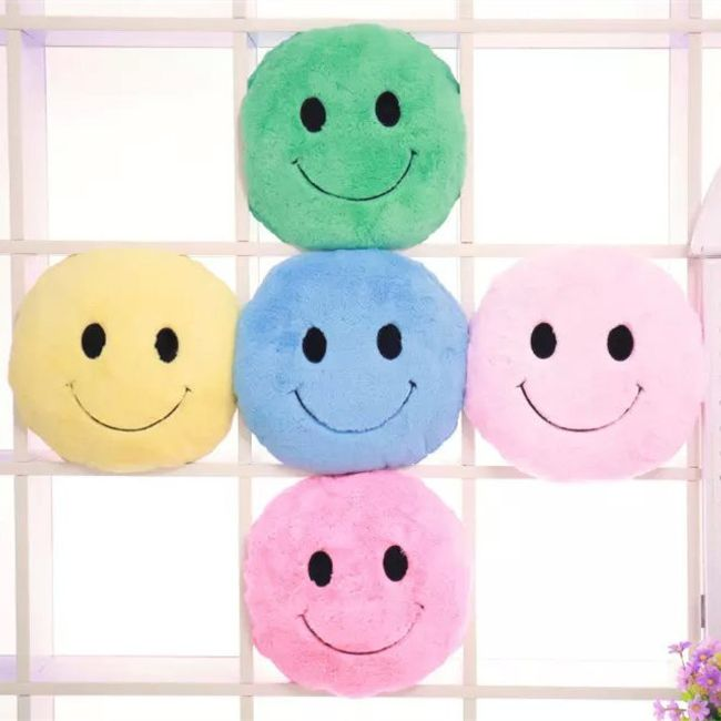 Плюшевая подушка смайлик- 5 цветов 1