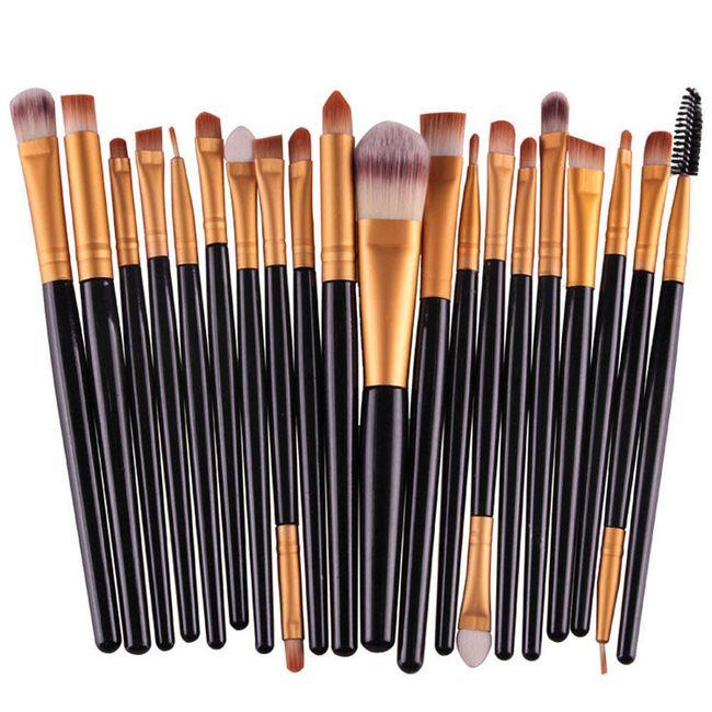 Sada kosmetických štětců pro dokonalé nalíčení očí - 20 kusů 1