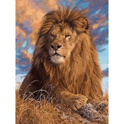 DIY festés színesre oroszlán