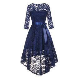 Ženska čipkasta haljina dugih rukava - 3 varijante