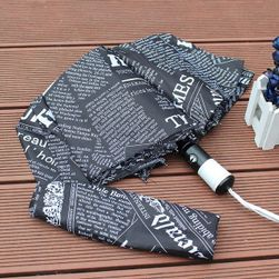 Deštník s potiskem novin