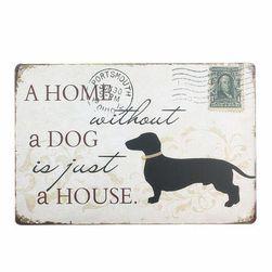 Afiș metalic pentru iubitorii de câini