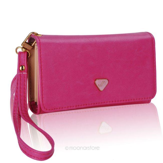 Prostorná dlouhá peněženka s poutkem - 4 barvy 1