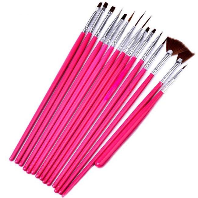 Tırnak süsleme fırça seti 1