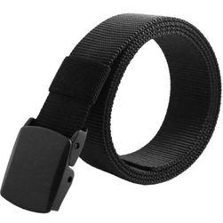 Pánský pásek s černou přezkou - černá barva