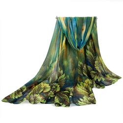 Damska jesienna chusta - 180 x 100 cm