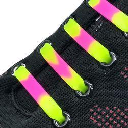 Színes szilikon cipőfűző - 12 db