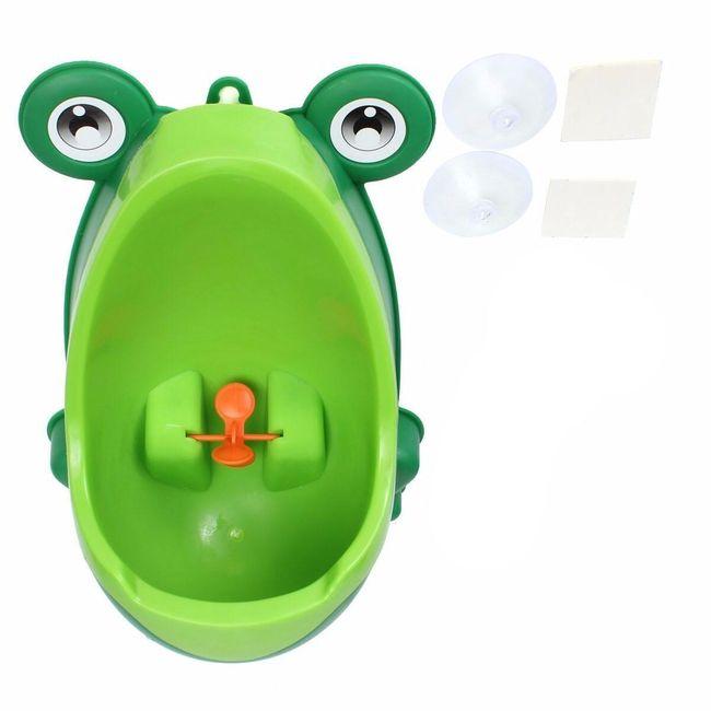Gyermek piszoár béka alakban - zöld 1