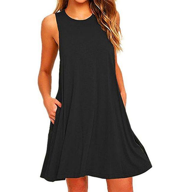 Ležerna jednobojna haljina - 4 boje 1