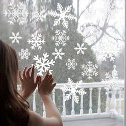 Świąteczne naklejki na szkło - 2 kolory  Biały