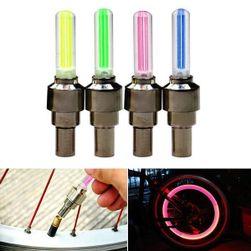 Svítící LED čepička na ventil kola - 4 barvy