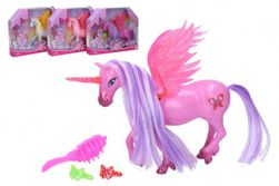 Jednorožec / kôň s krídlami česacia s doplnkami plast 20 cm mix farieb v krabičke 25x20x5cm RM_49114628