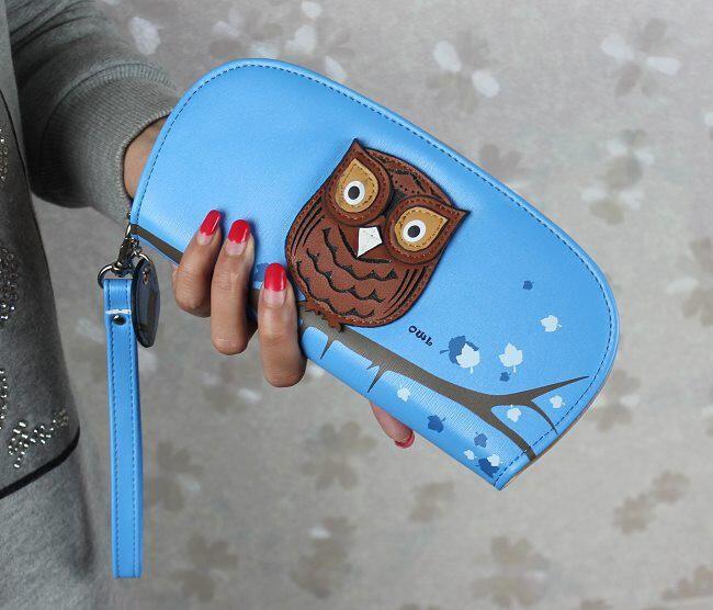 Lekerekített pénztárca bagollyal - 7 szín