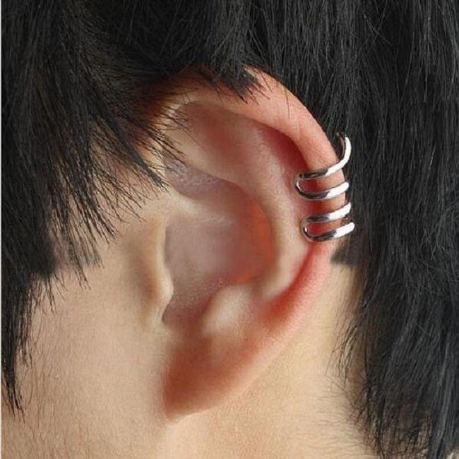 Okrasni uhani - spirala 1