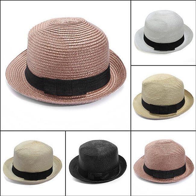 Slaměný unisex klobouk ve 4 barvách 1