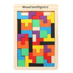 Drewniane puzzle tetris