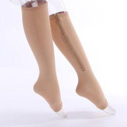 Yan fermuarlı kompresyon çorapları