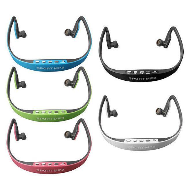 Спортивные беспроводные наушники с MP3-плеером - 5 цветов 1