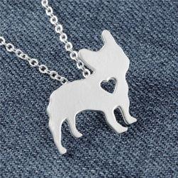 Colier argintiu - Bulldog francez