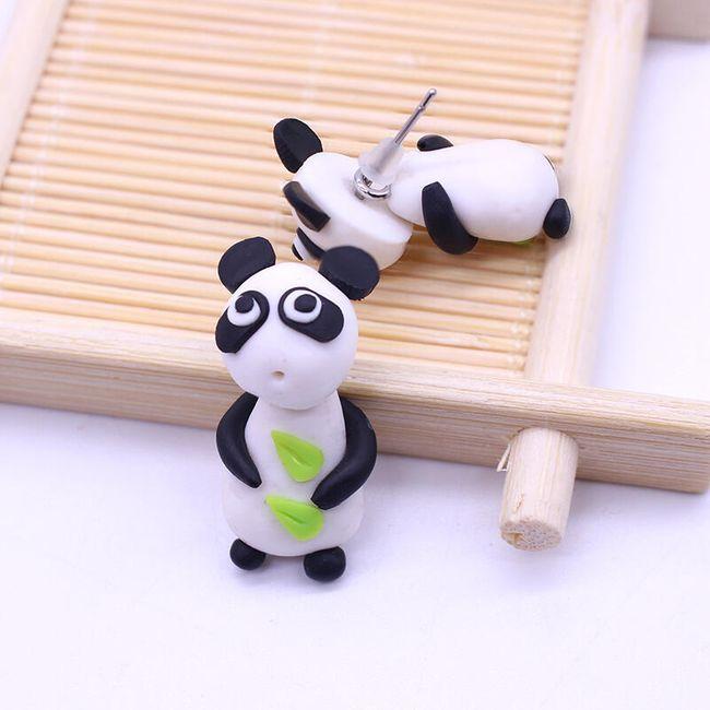 Dámské polymerové náušnice v podobě pandy 1